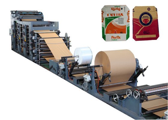 China Multi Wall Kraft Paper Bag Making Machine Full - Automatic With Step / Flat Cut factory