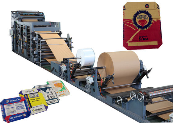 Industrial Paper Sack Valve Paper Bag Making Machine Multifuntional 63kw