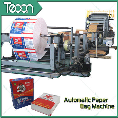50KG Kraft Sack Making Machine , Paper Bag Production Line For Cement Bag