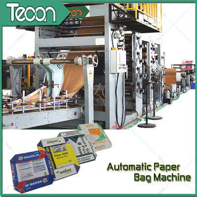 Step Cut 25Kilogram Grain Wheat Food Paper Bag Making Machine With 2.5mm - 5mm Perforation
