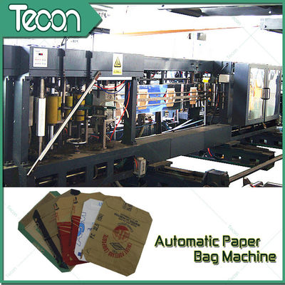 Flat Bottom Pasting Paper Bag Forming Machine Which Can Pack 50Kg Cement