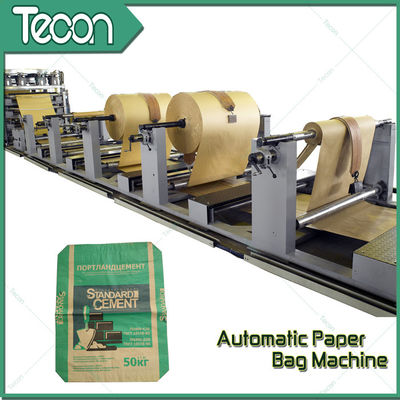 Tube Machine of Kraft Paper Bag Production Line With 5 Paper Reel Racks
