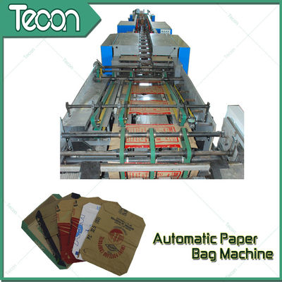 China Bevel Gear Full Automatic Paper Bag Making Machine with Siemens Screen Control factory