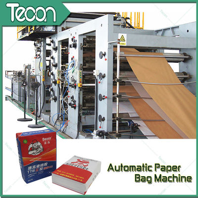 Tubular Valve / Flat Valve Automatic Chemical Paper Bag Make Machine High Speed