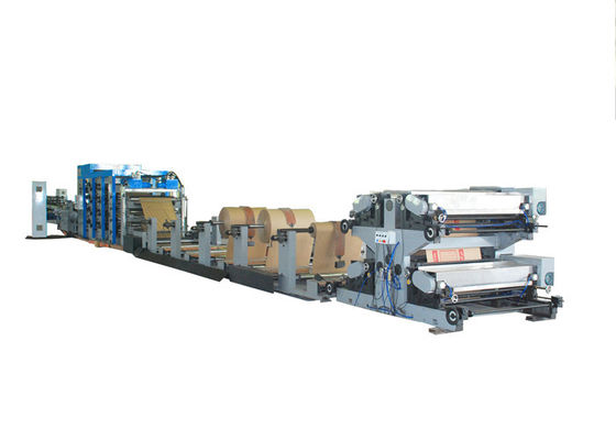 China Food Kraft Paper Bags Making Machine with Servo System and Color Cell Tracking factory