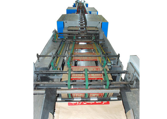 China 25 KG Starch Kraft Paper Bag Automatic Making Machine With Both End Pasted Stepped Cut Valve factory